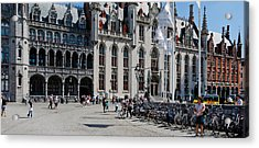 Tourists At A Market, Bruges, West Acrylic Print