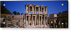 Tourists In Front Of The Old Ruins Acrylic Print by Panoramic Images