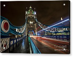 Tower Bridge London Acrylic Print by Donald Davis