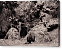 Traditional Cahuilla Indian Huts Acrylic Print by Sandra Selle Rodriguez