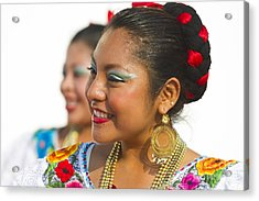 Traditional Ethnic Dancers In Chiapas Mexico Acrylic Print
