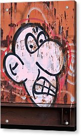 Train Art Cartoon Face Acrylic Print