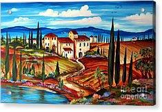 Tranquillita' Toscana Acrylic Print