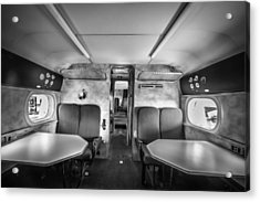 Traveling First Class 1944 Short Sunderland Bw Acrylic Print