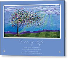 Tree Of Life Acrylic Print by Tanielle Childers