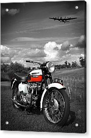 Triumph Bonneville T120 Acrylic Print by Mark Rogan