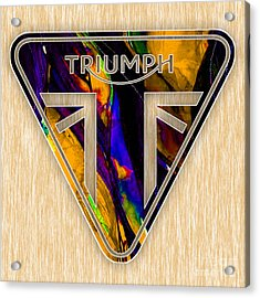 Triumph Motorcycle Acrylic Print by Marvin Blaine