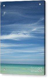 Tropical Ocean And Sky Acrylic Print