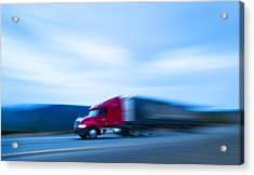 Truck On Motorway Acrylic Print by Science Photo Library