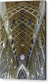 Trussed Arches Of Uf Chapel Acrylic Print by Lynn Palmer