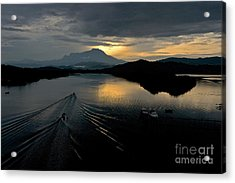 Tuaran River  Acrylic Print by Gary Bridger