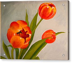 Tulips Acrylic Print by Valerie Lynch