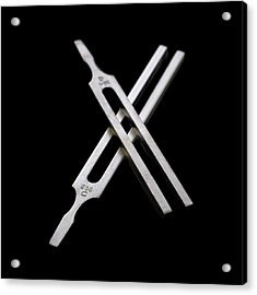 Tuning Forks Acrylic Print by Science Photo Library