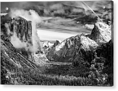 Tunnel View In Yosemite Acrylic Print