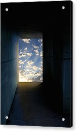 Tunnel With Light Acrylic Print by Melinda Fawver
