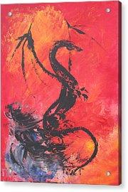 Turbulent Dragon Acrylic Print