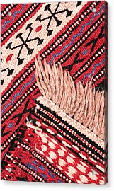 Turkish Rug Acrylic Print by Tom Gowanlock