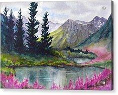 Turnagain Pass Fireweed Acrylic Print