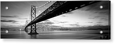 Twilight, Bay Bridge, San Francisco Acrylic Print by Panoramic Images