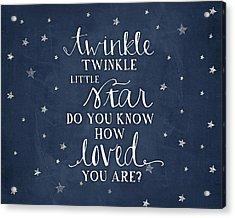 Twinkle Little Star Acrylic Print by Amy Cummings
