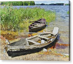 Two Boats Acrylic Print by Yury Malkov