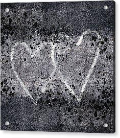 Two Hearts Graffiti Love Acrylic Print