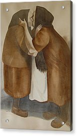 Two Old Friends Acrylic Print by Sarah Buell  Dowling