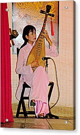 Two-stringed Lute Player At Wedding Ceremony Show In Binh Quoi Village-vietnam  Acrylic Print by Ruth Hager