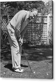 Ty Cobb Golfing At Home Acrylic Print