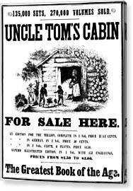 Uncle Tom's Cabin, C1860 Acrylic Print by Granger