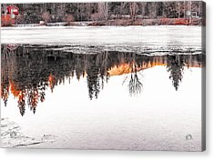 Under The Ice Acrylic Print by Nancy Marie Ricketts