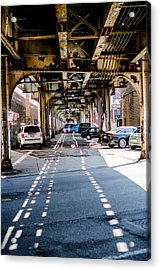 Under The L Tracks Acrylic Print
