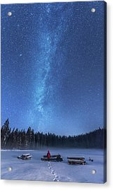 Under The Starry Night Acrylic Print by Ales Krivec