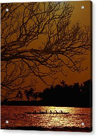 Under The Sunset Acrylic Print by Athala Carole Bruckner
