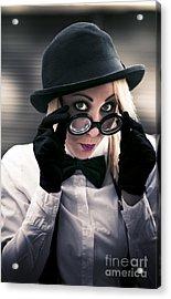 Undercover Secret Agent Acrylic Print by Jorgo Photography - Wall Art Gallery