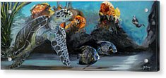 Acrylic Print featuring the painting Underwater Beauty by Donna Tuten