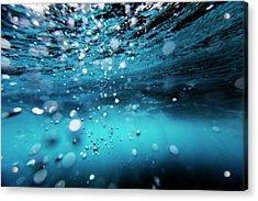 Underwater Bubbles Acrylic Print