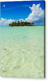 Uninhabited Island In The Pacific Acrylic Print