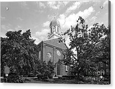 University Of Dayton Chapel Acrylic Print by University Icons