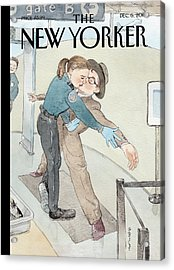 New Yorker December 6th, 2010 Acrylic Print by Barry Blitt
