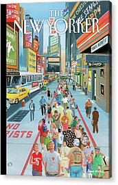 New Yorker October 3rd, 2011 Acrylic Print by Bruce McCall