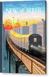 New Yorker September 5th, 2011 Acrylic Print by Eric Drooker