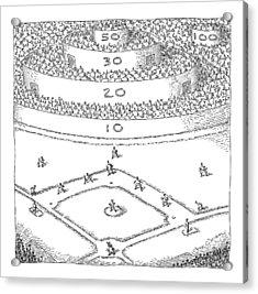 Captionless; Skeeball Baseball Acrylic Print by John O'Brien