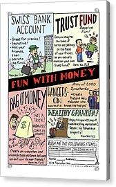 New Yorker April 24th, 2000 Acrylic Print by Ruben Bolling