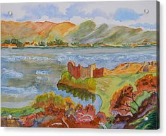 Urquhart Castle Acrylic Print by Warren Thompson