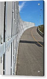Us-mexico Border Fence Acrylic Print by Josh Denmark - U.s. Customs And Border Protection/science Photo Library