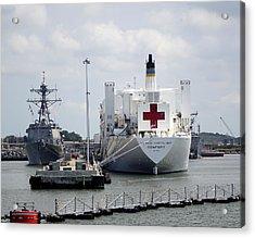 Us Naval Hospital Ship Comfort Acrylic Print