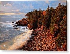 Usa, Maine, Acadia National Park, Ocean Acrylic Print by Joanne Wells