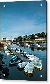 Usa, Maine, Ogunquit, Perkins Cove Acrylic Print by Walter Bibikow