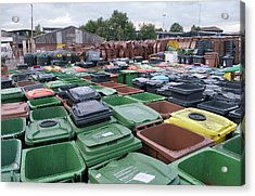 Used And Damaged Wheelie Bins In Compound Acrylic Print